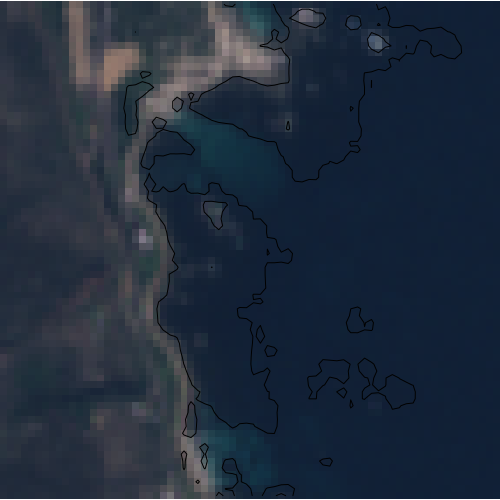 kelp detection from Sentinel-2