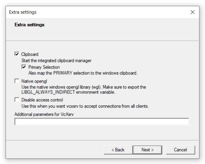 vcXsrv extra settings